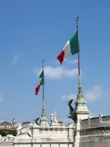 Real Italian flags.   Taken by David J Mike  (my dad)