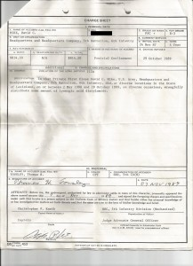 Charge Sheet Two